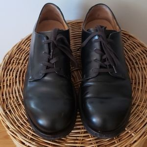 Antonio Maurizi black leather derby shoe w/ camo